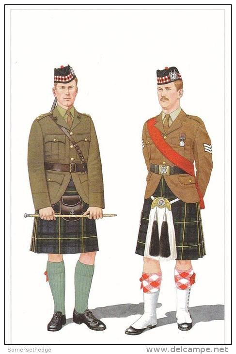 British; Gordon Highlanders, Officer Undress & Sergeant Full Dress.