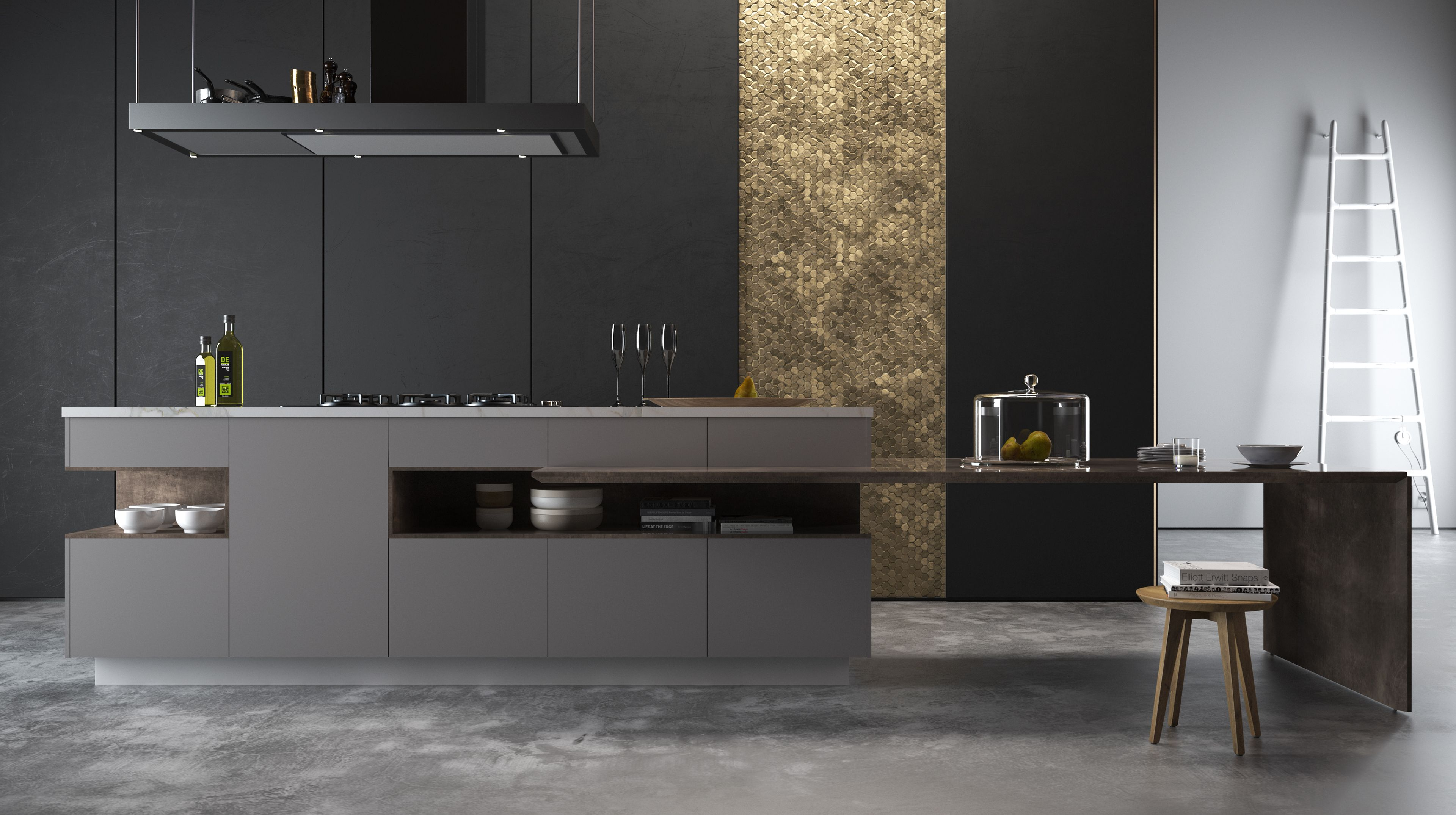 Porcelanosa Gravity On Behance Minimalist Kitchen Design Modern Kitchen Design Modern Black Kitchen