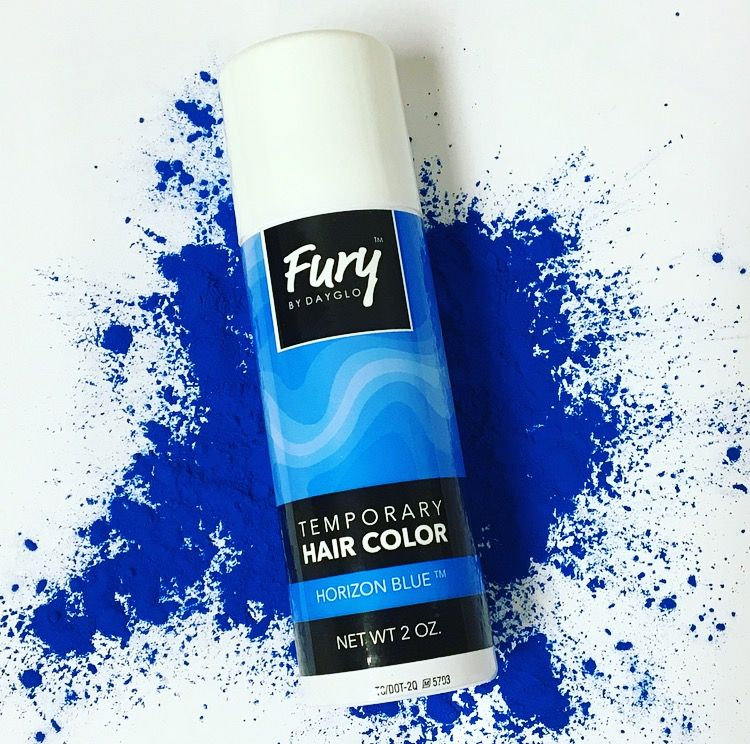 Perfect For Bright Blue Colored Streaks In Your Hair That Wash Out