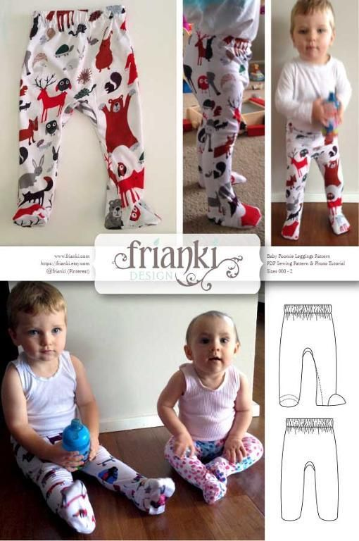 Baby Leggings with Feet | coser | Pinterest | Bebé, Costura y Coser
