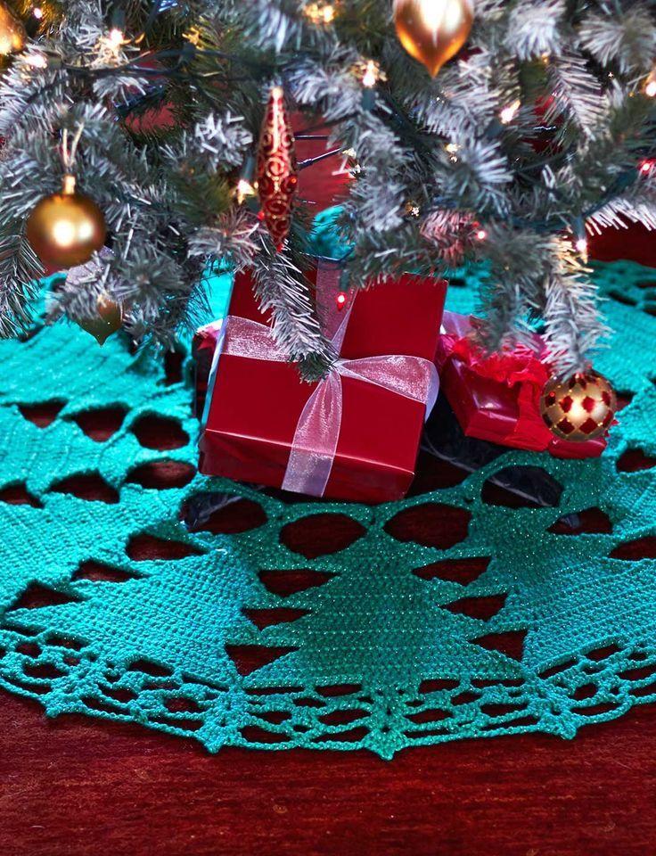 Ganchillo brillante del árbol de navidad de la falda: | Crochet ...