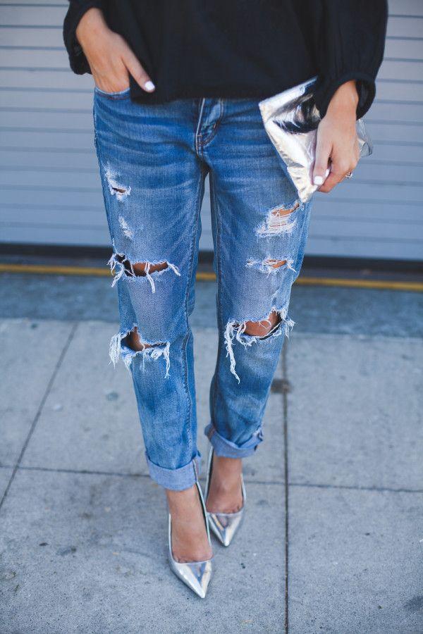 Must-Have Denim : Boyfriend Jeans | Natalie Dressed #tomgirljeansoutfits