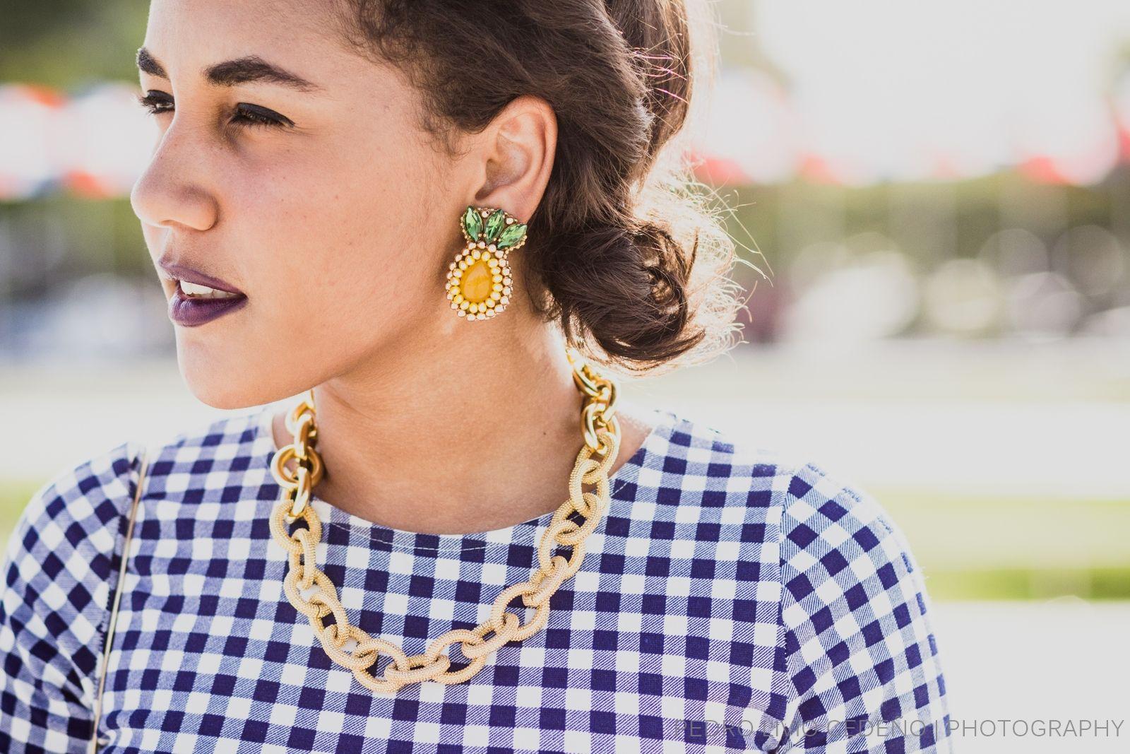Spotted - @mavtips luciendo nuestros aretes #IsisPineapple #FashionBlogger  #PineappleEarrings