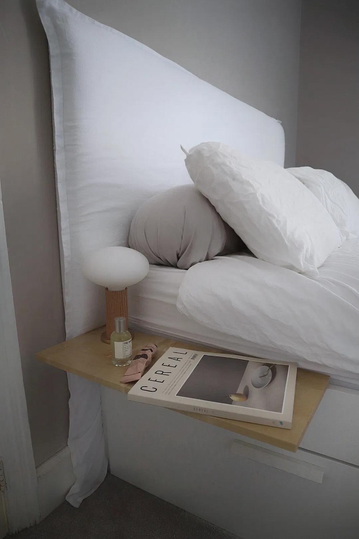 DIY Linen Headboard for Your Bedroom – Create a Bespoke Simple Minimalist Headboard