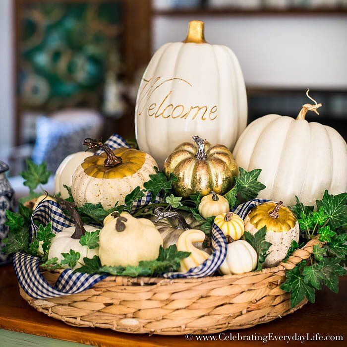 Get Ready For Fall With This White Pumpkin Arrangement! Check Out My Simple  Step