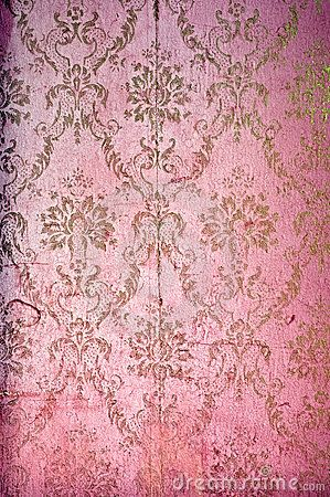 Vintage Wallpaper Rose Pink Cachivaches