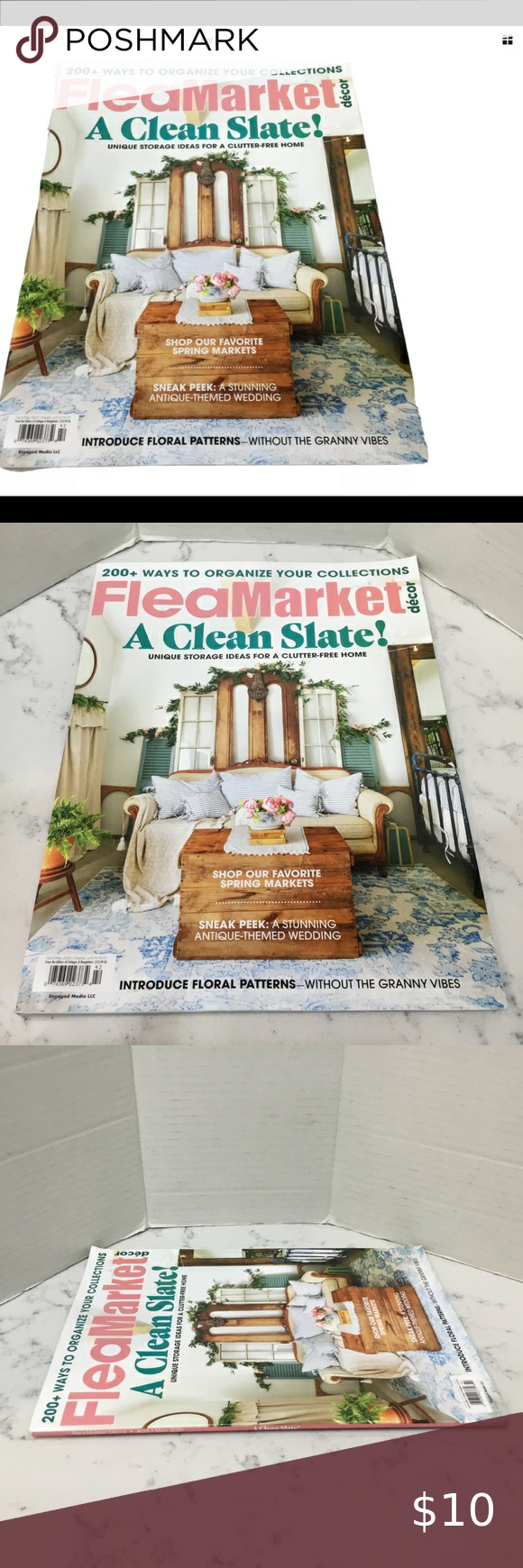 Flea Market A Clean Slate! April/May 2020 Issue Flea Market A Clean Slate! April/May 2020 Issue FREE SHIPPING Brand New never opened news stand quality Ours is a smoke free home � Accents Coffee Table Books