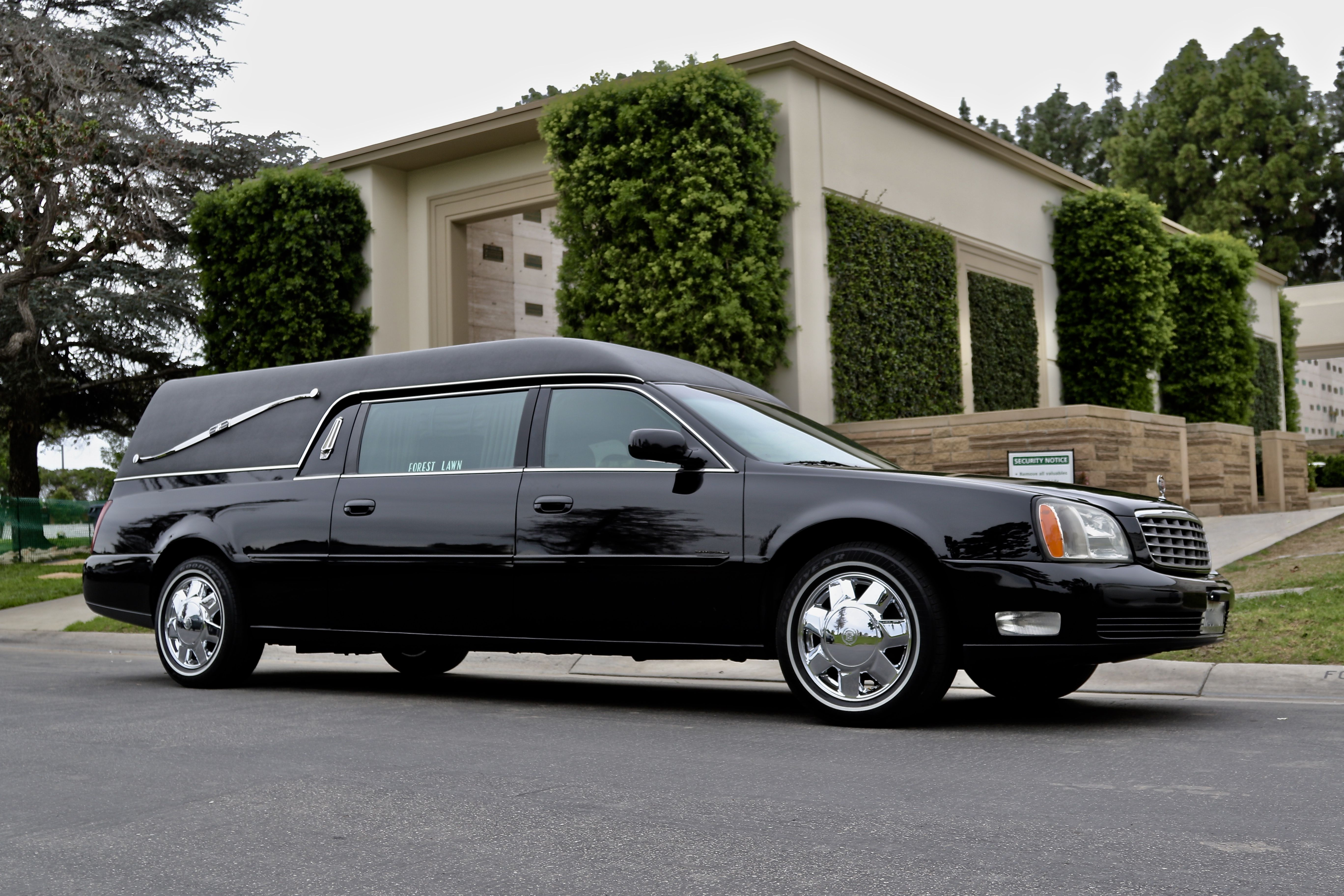 #Hearse at #ForestLawnMemorialPark #Cypress #CA  #Funeral photo by #OCdoves https://OCdoves.com