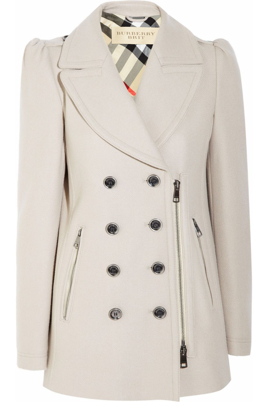 Burberry Brit|Double-breasted wool-blend coat|