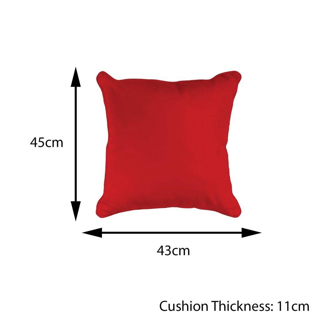 Bonsoni Red Scatter Cushion Garden Outdoor