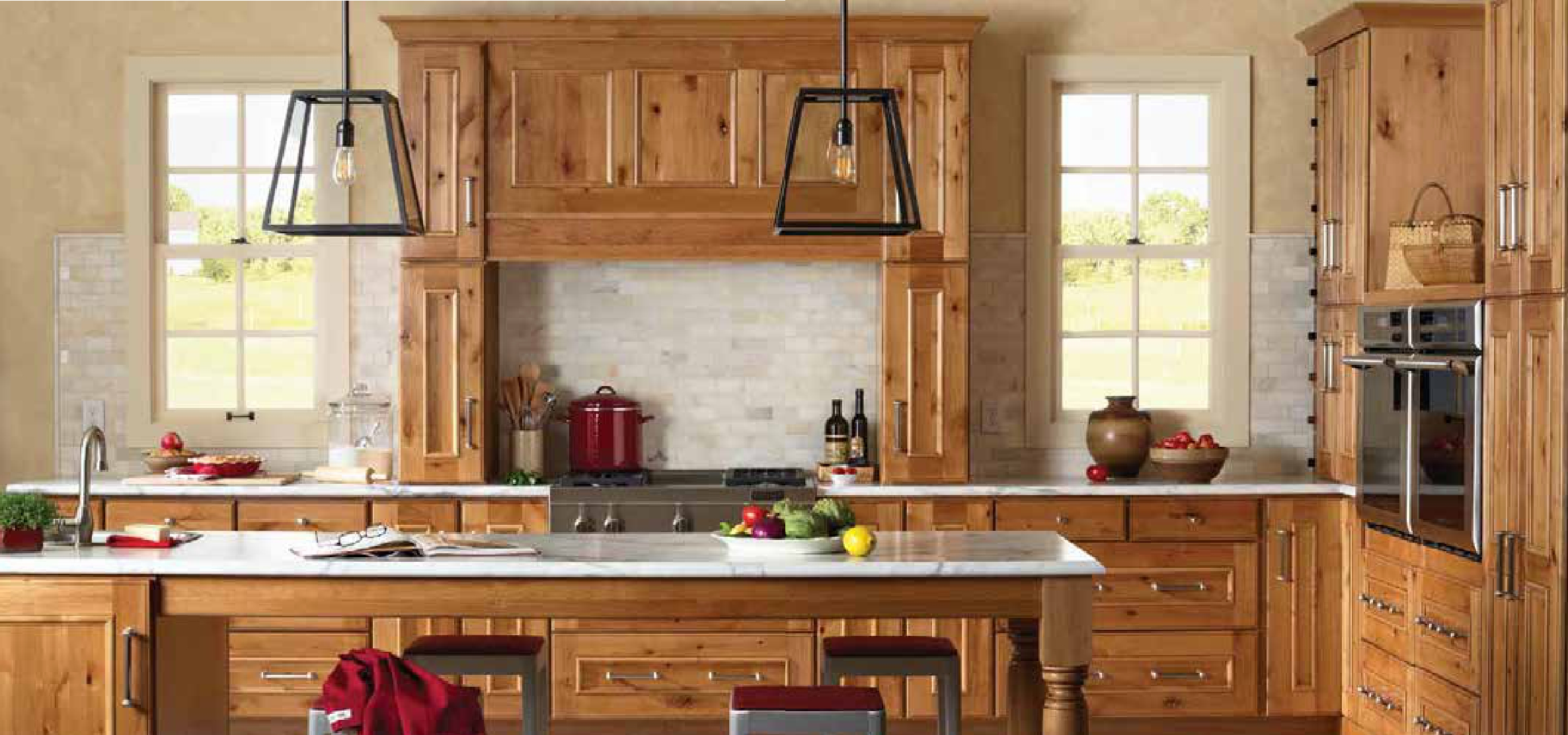 Gilbert from norcraft cabinetry rustic alder natural for Cheap rustic kitchen cabinets