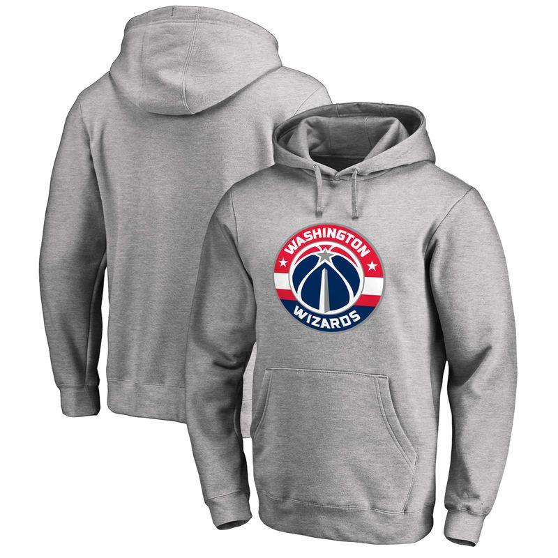 225b649fae9497 Washington Wizards Primary Logo Pullover Hoodie - Heather Gray ...