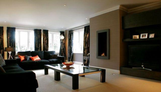 Wandfarbe Braun- 25 Wohnzimmer Ideen Home \ Garden Pinterest - braun wohnzimmer ideen
