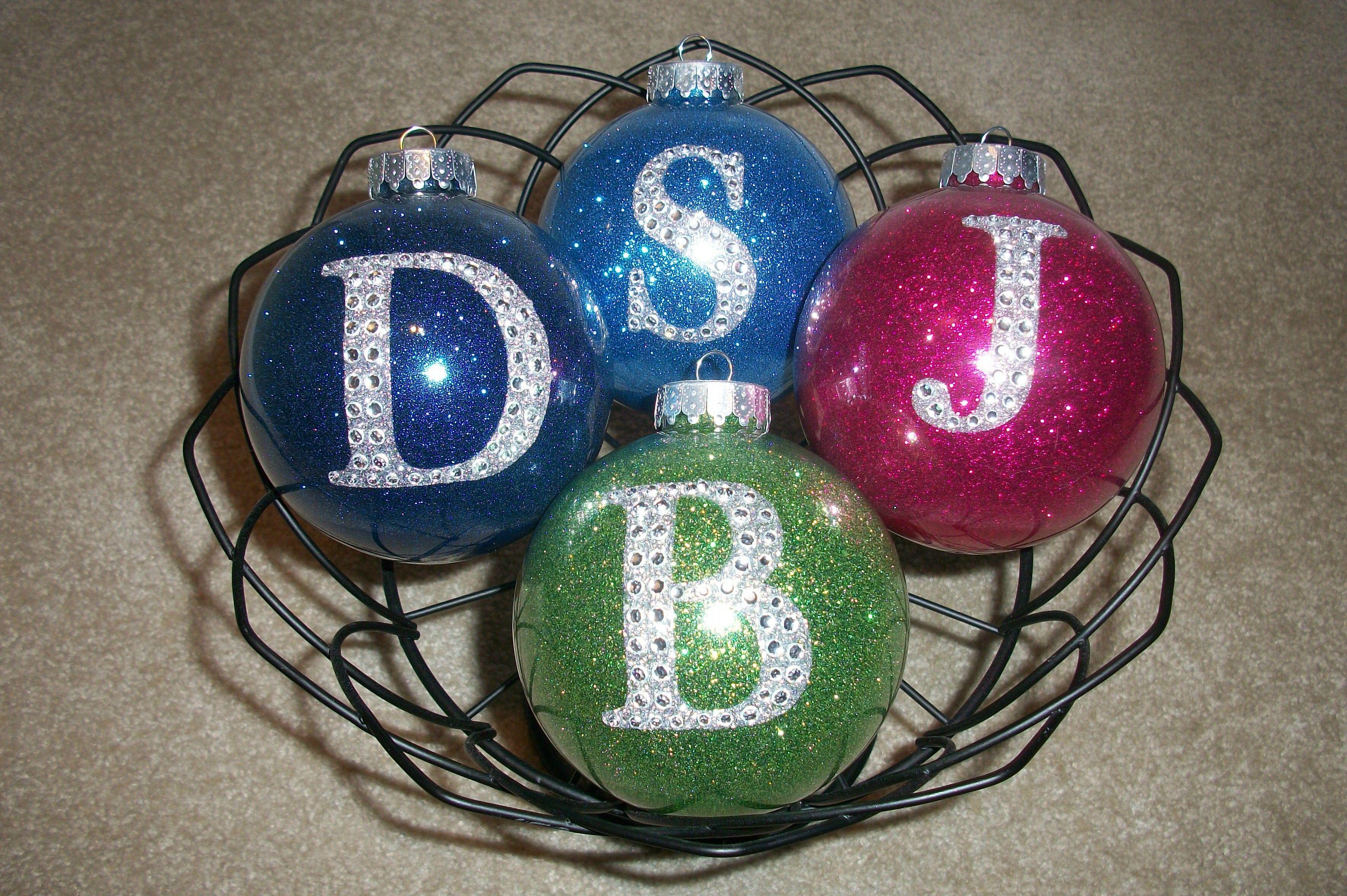 Personalized Glitter Ball Ornaments!