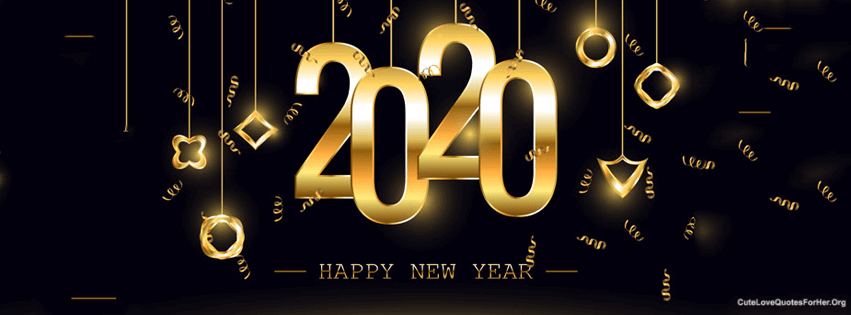 30 Happy New Year 2020 Facebook Covers, FB Cover Pics