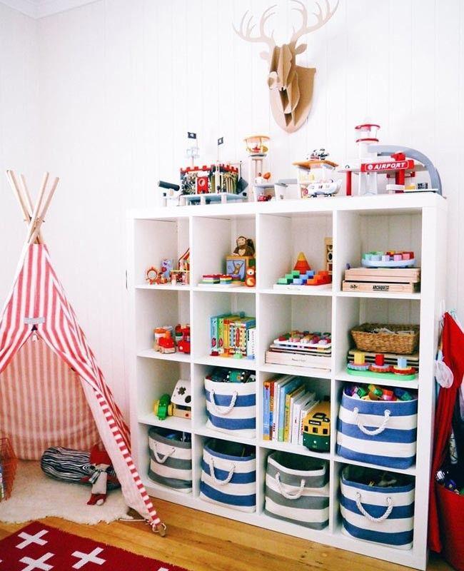 10 prácticos jugueteros para el cuarto de los niños | Kind