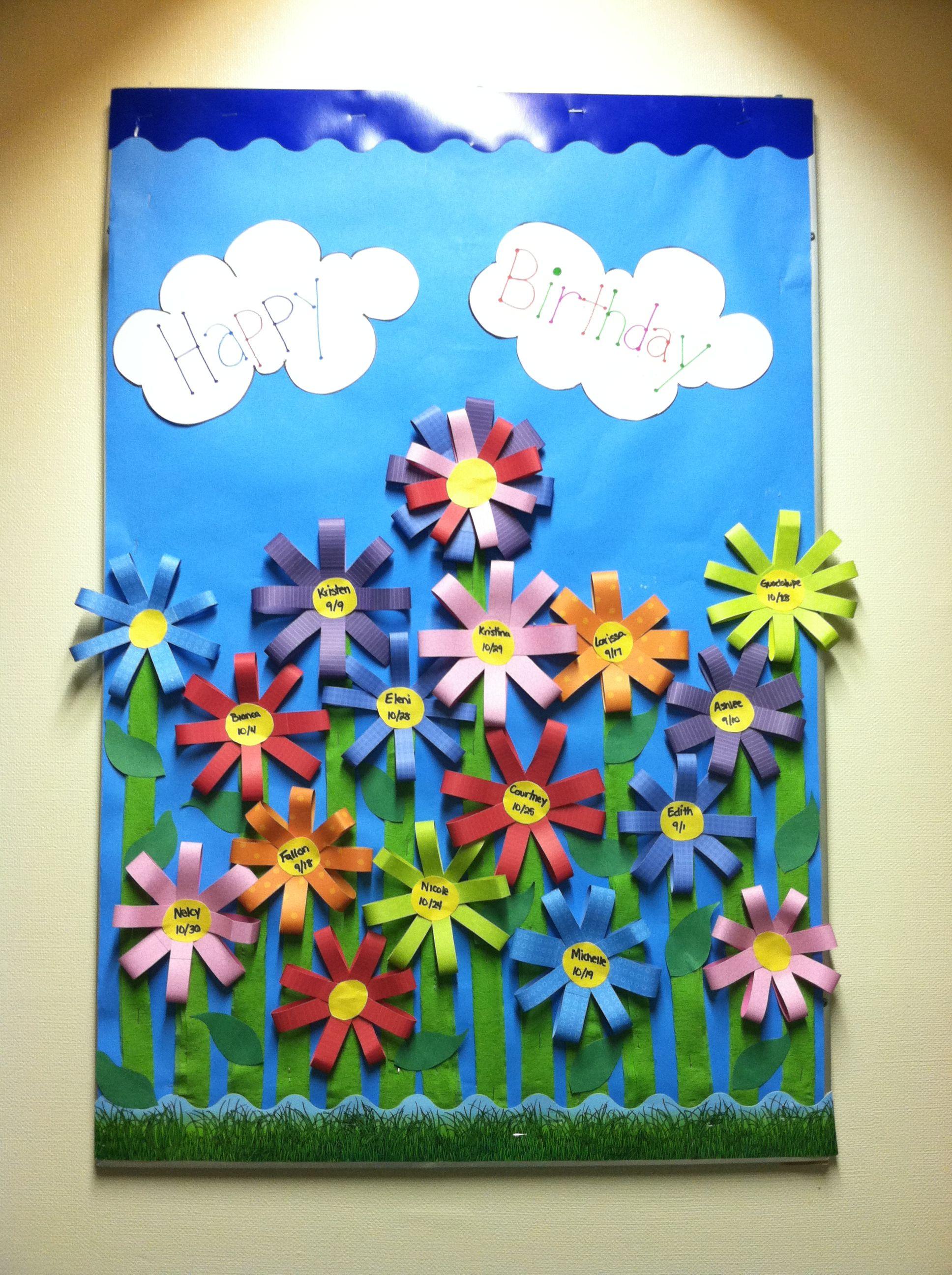 Happy Birthday Board Birthday Bulletin Boards Birthday