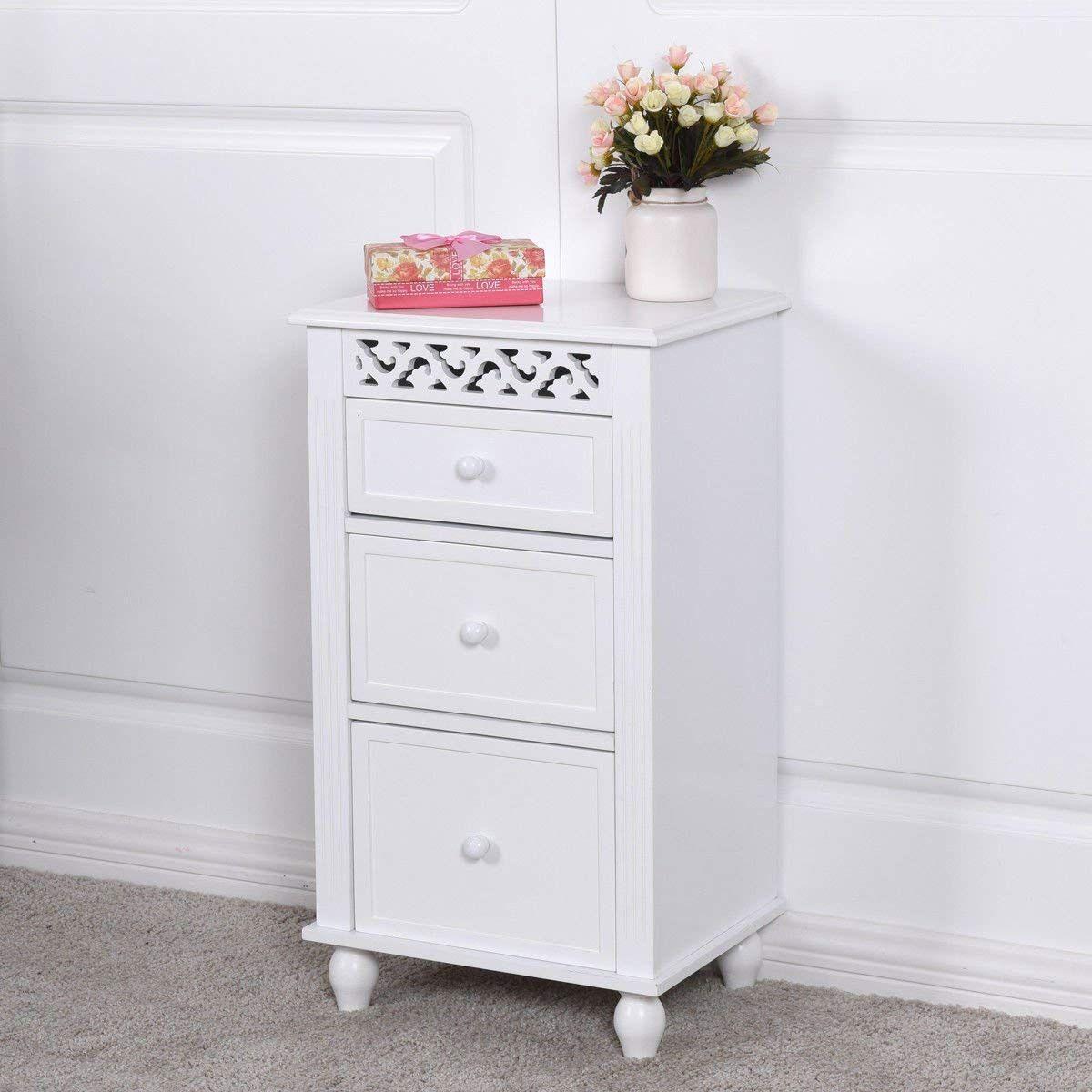 White Small Floor Cabinet Wood Bathroom White Storage Cabinets Cupboards Organization