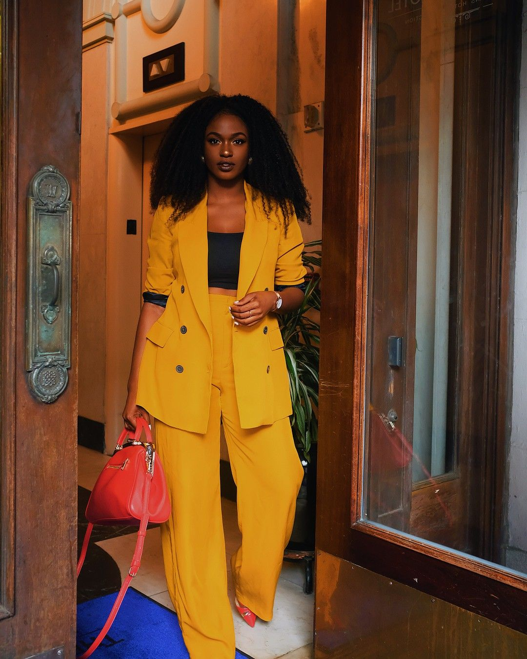 Yellow Pantsuit Womens