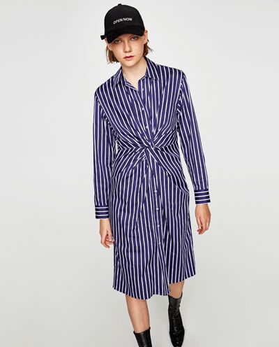 3f0c22f3 Image 2 of STRIPED TUNIC WITH KNOT from Zara | Fashion Inspiration ...