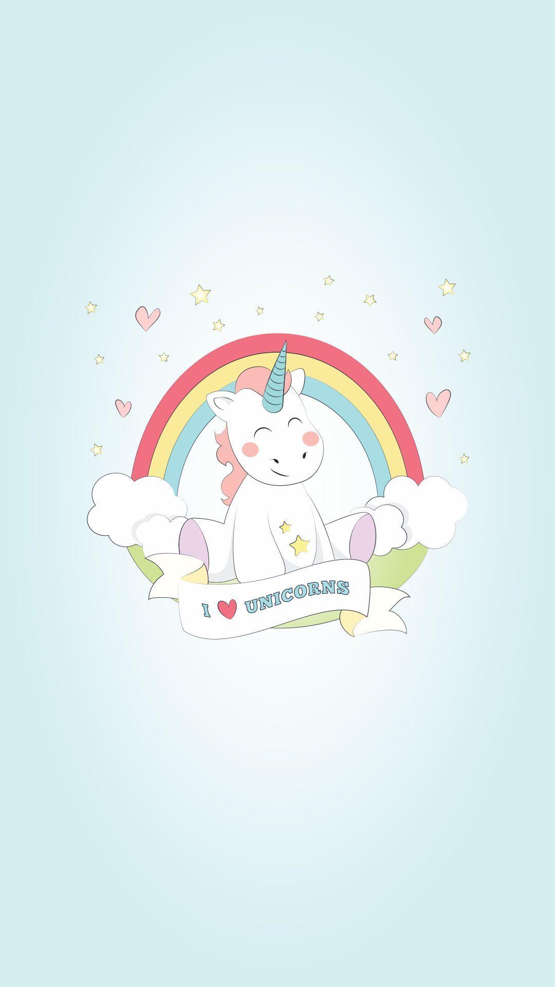 Wallpaper iphone tumblr unicorn - I Love Unicorn Wallpaper