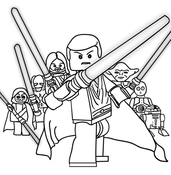 Lego Star Wars Printable Coloring Page