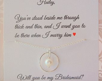 Bridal Party Gifts Maid Of Honor Bridesmaid Infinity Necklace