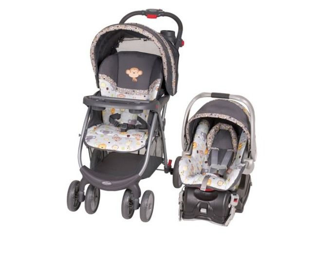 Baby Stroller And Car Seat Travel System Infant Buggy Foldable Lightweight BabyTrend