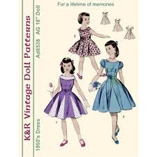 free vintage doll clothes patterns download - Google Search