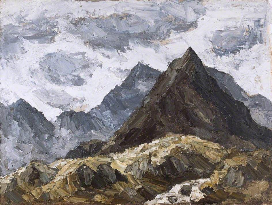 Kyffin Williams Mountains, Snowdonia Art uk, Snowdonia