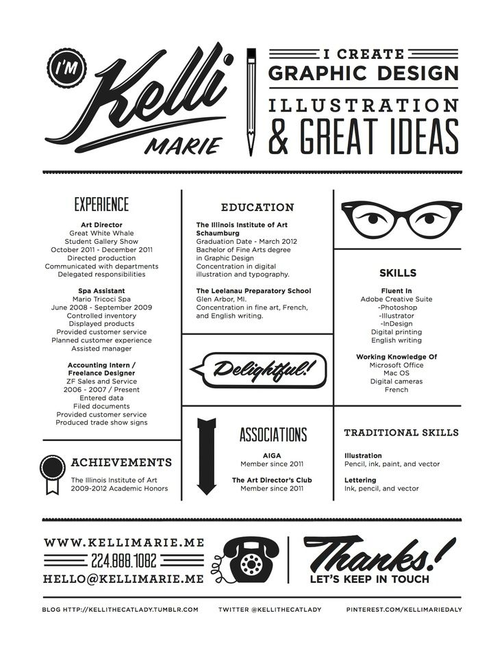 Creative Resume Examples  Creative Resume  GraphicWebdesign