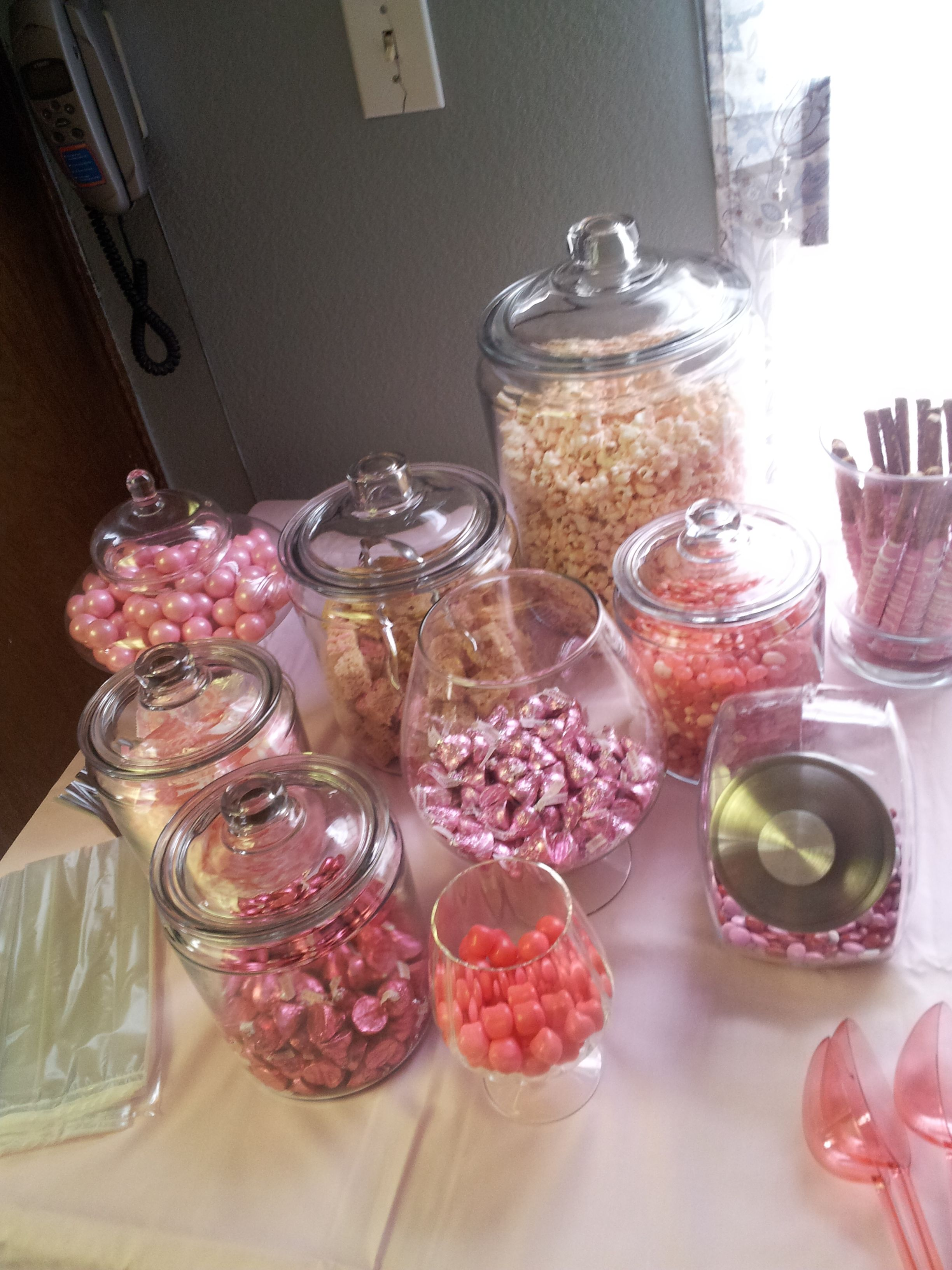 baby girl , baby shower, candy table
