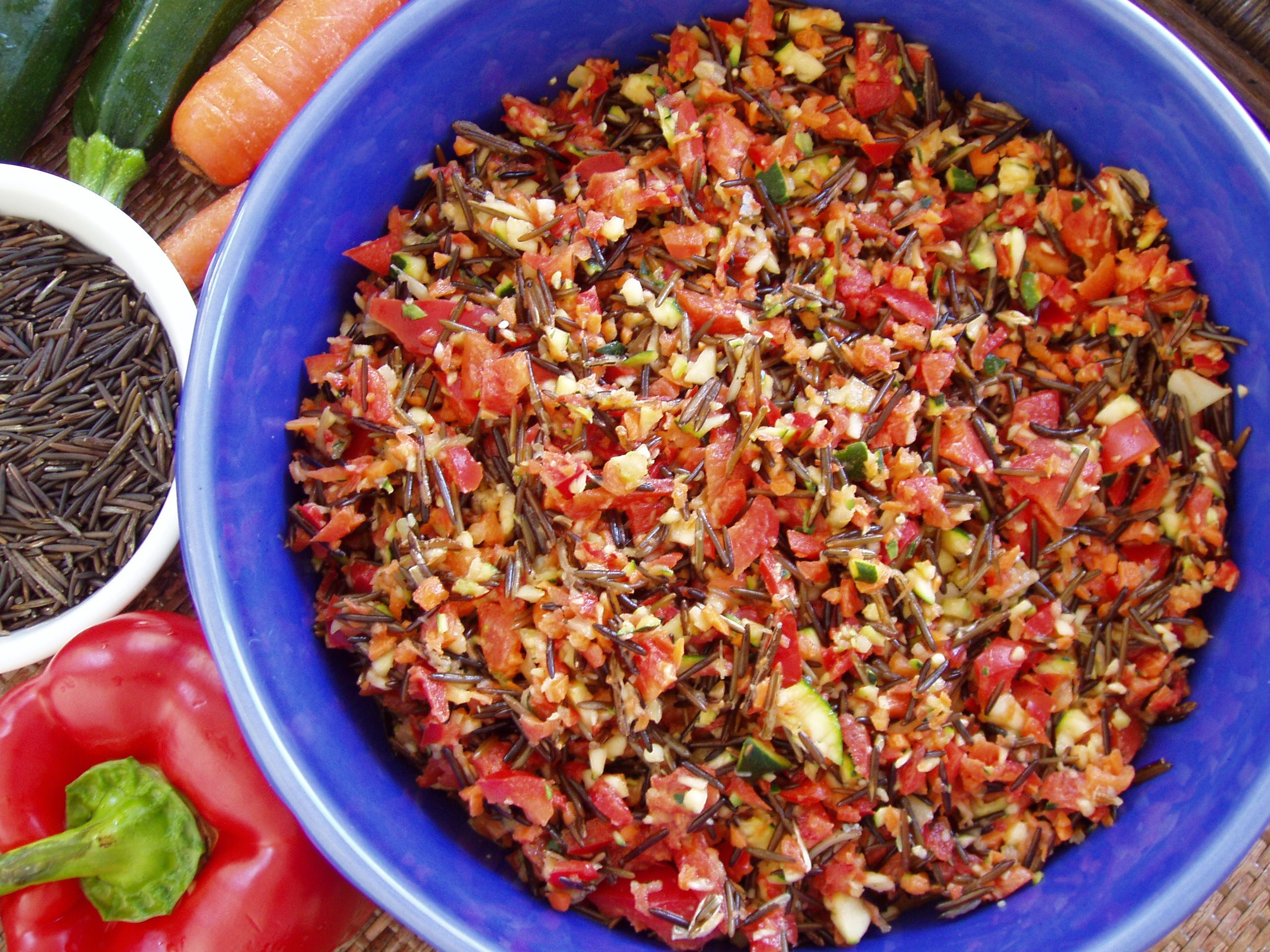 Raw Wild Rice Salad from Living on Live Food