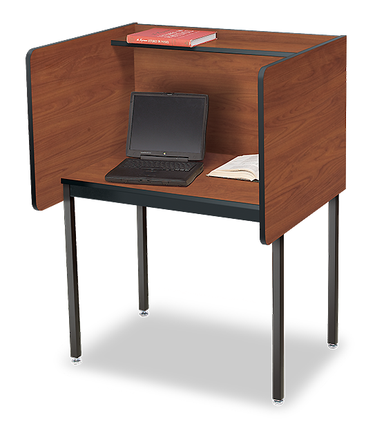 Enjoy Private Study Carrel Time With Our Maximum Privacy Desk
