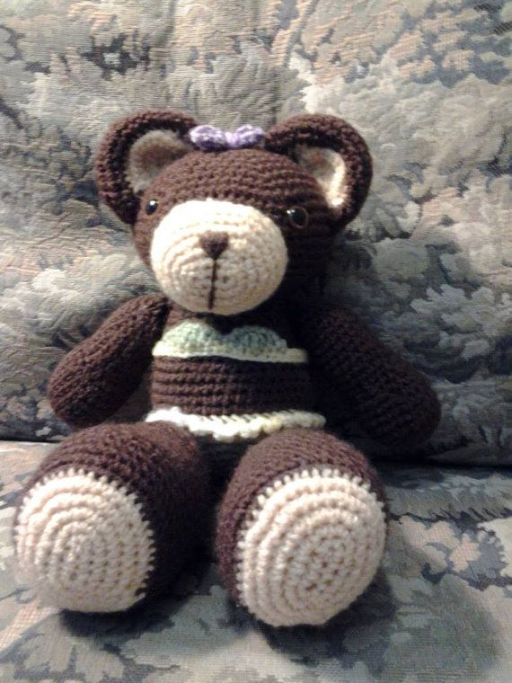 Little Beach Girl  Teddy Bear by HandcraftedbyJenn on Etsy, $15.00