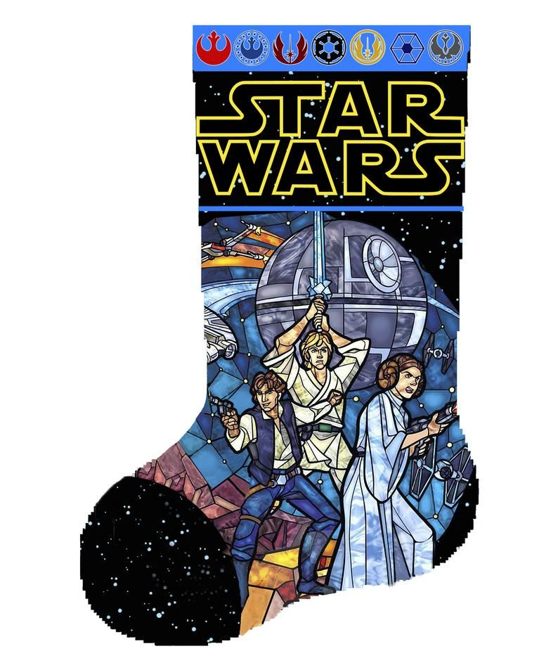 Christmas stocking star wars stained glass christmas sock
