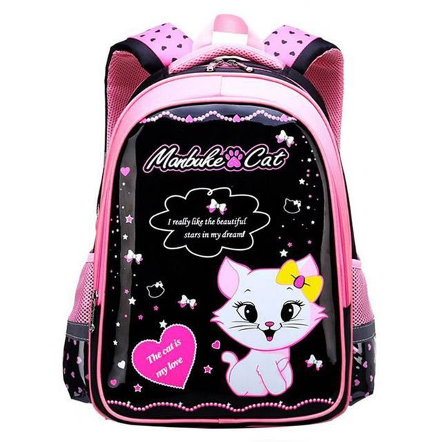 Sweet Cat Girl/'s School Bags Cartoon Pattern Kid Backpack Children School Girl