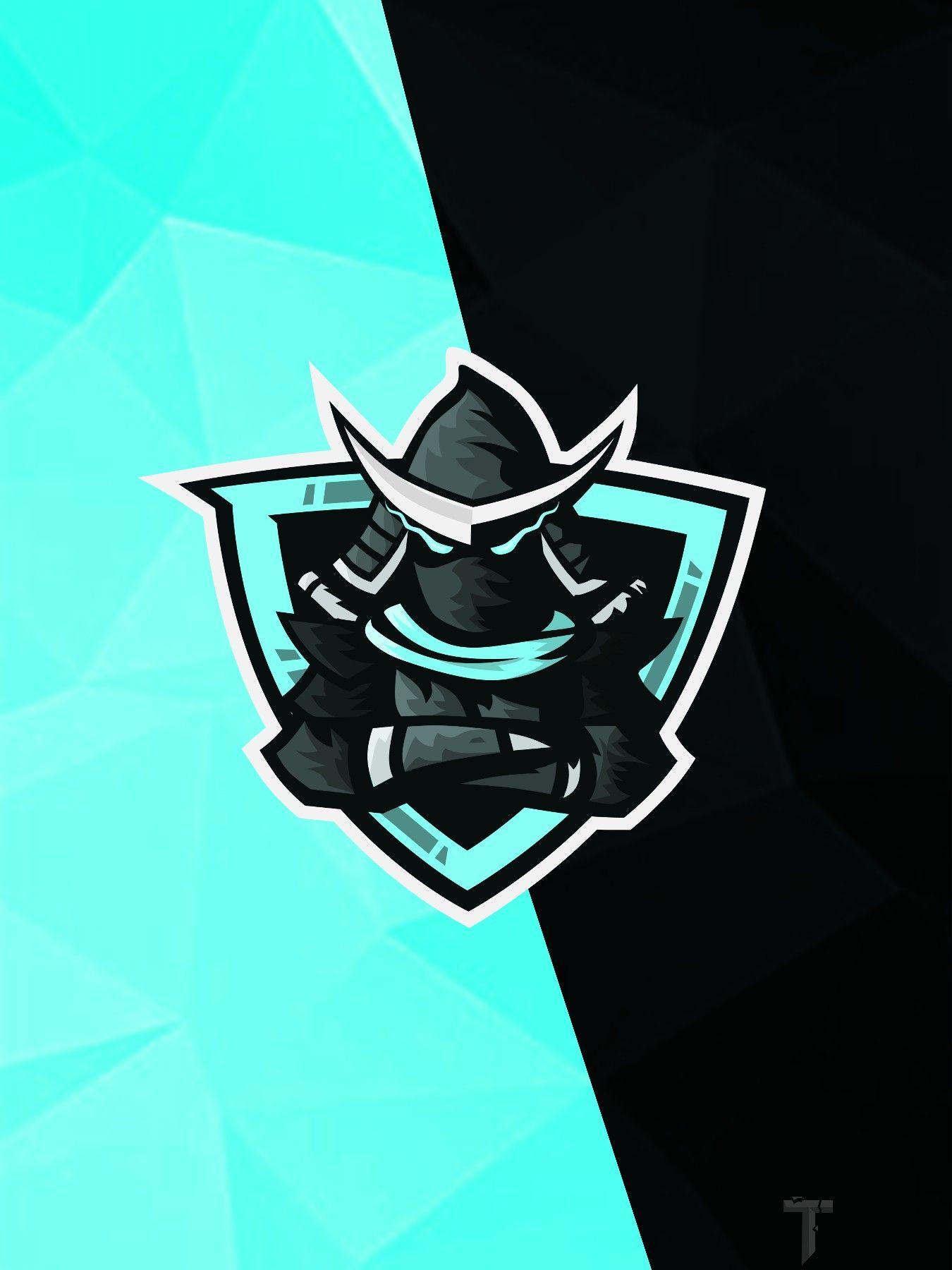 Samurai mascot logo fortnite esports wallpaper background