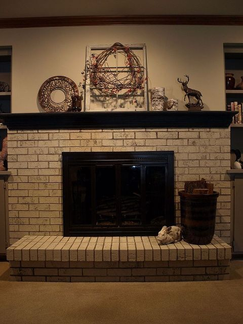 Painting A Brick Fireplace With Chalk Paint Paint Concrete Graphite Chalk Paint And Brick