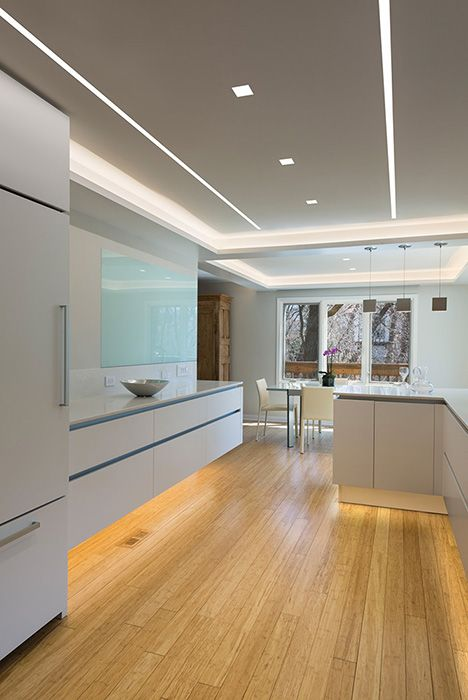 Pure Edge Reveal Channel Ceiling Light Design Kitchen Ceiling Design Kitchen Led Lighting