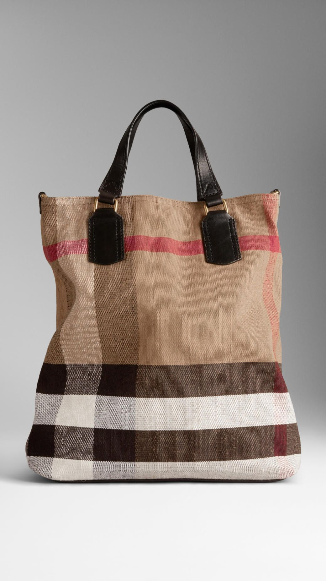 0a6d092af854 Burberry Medium Canvas Check Tote Bag