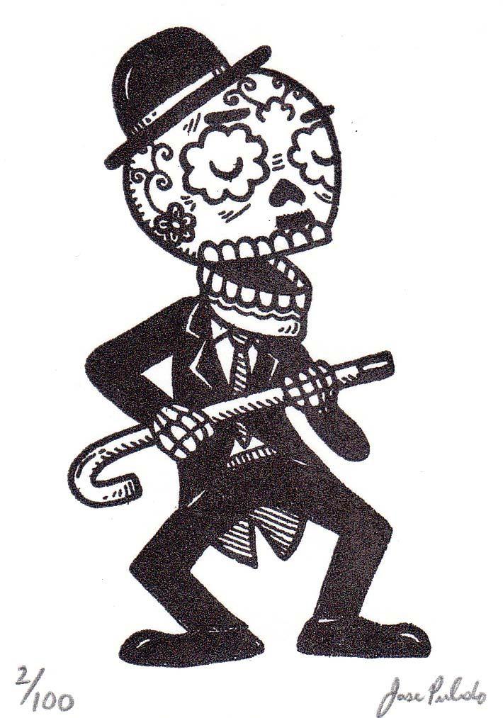 Al estilo de Jose Pulido  Calaveras Ilustradores mexicanos y