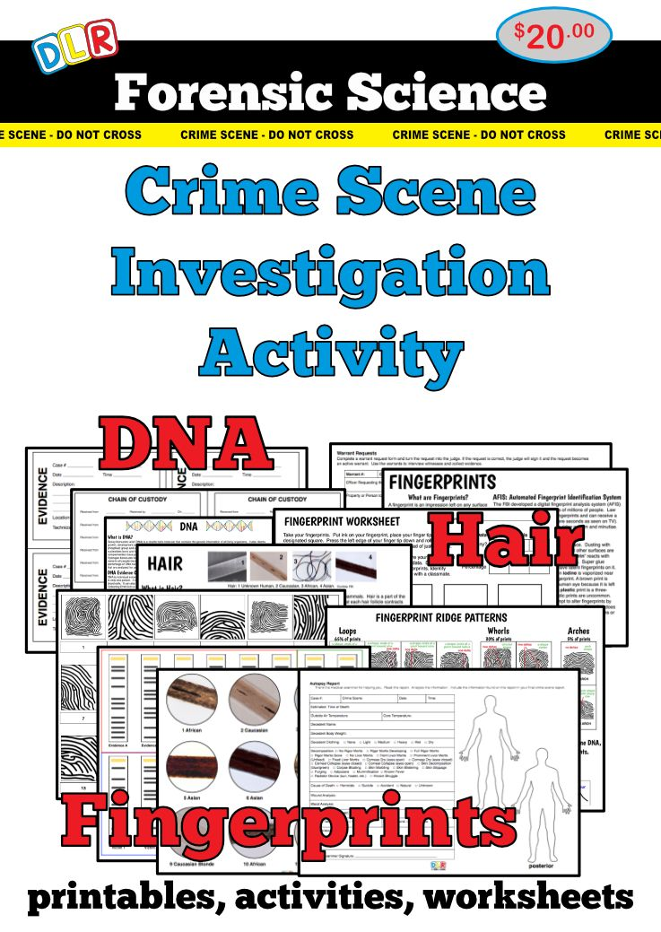 Forensic Science Crime Scene Investigation Activity Forensic
