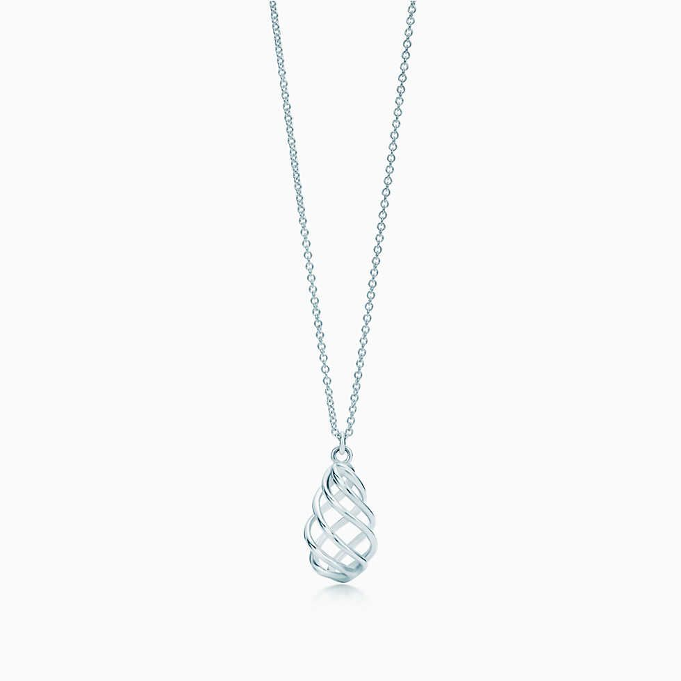 8bdb51369 Elsa Peretti® Mesh tassel pendant in sterling silver with a freshwater  pearl. | Tiffany & Co.