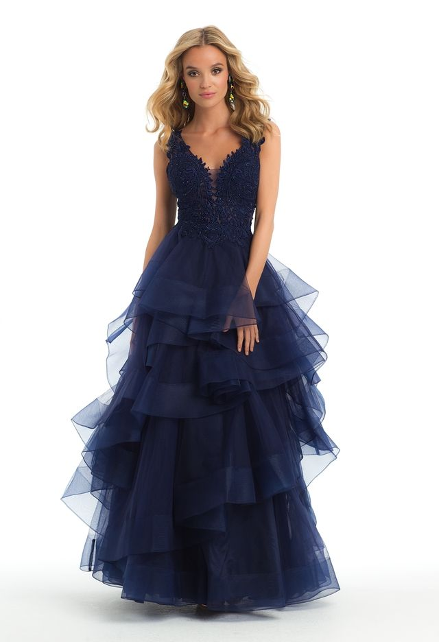 Tiered Tulle and Lace Ballgownfrom Camille La Vie and Group USA ...