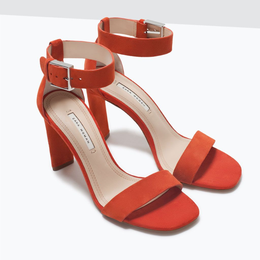 ZARA - SALE - LEATHER HIGH HEEL SANDAL WITH ANKLE STRAP