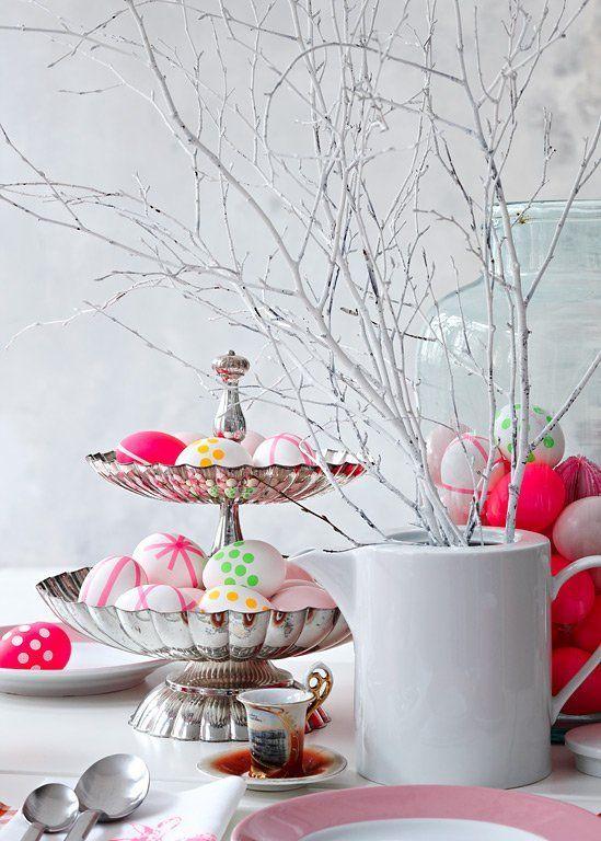 Mesa romântica decorada para a Páscoa | Eu Decoro