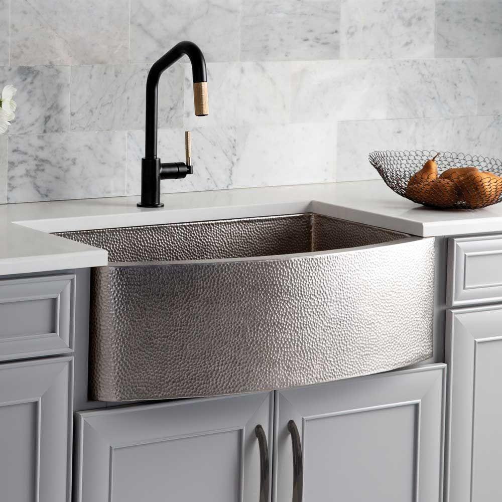 Rhapsody Farmhouse Sink In Brushed Nickel Native Trails Farmhouse Sink Kitchen Kitchen Sink Design Copper Farmhouse Sinks