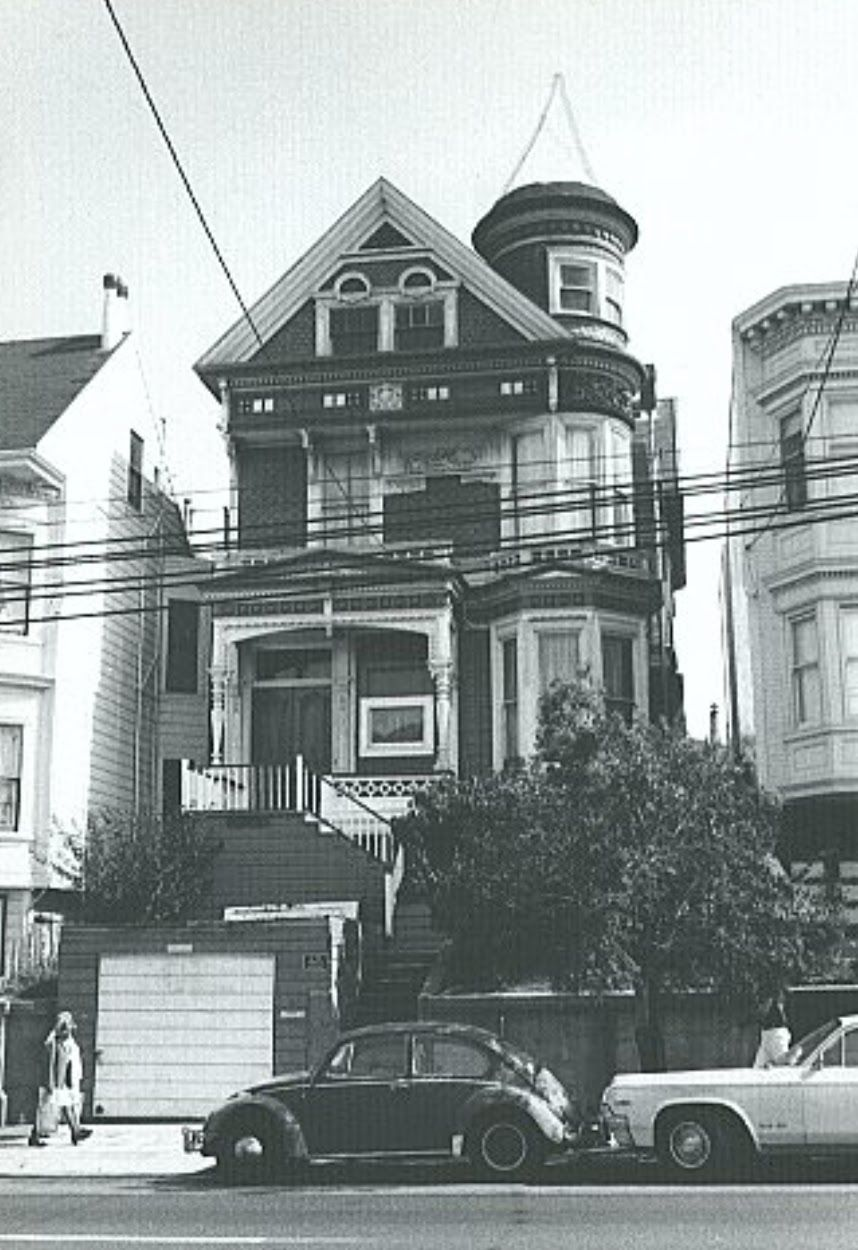 959 S Van Ness Missing Its Witch Hat Turret Here It Is Pencilled In Th Current Double Garage Is Als Victorian Architecture San Francisco Houses Double Garage