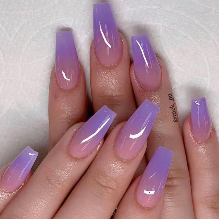 Lilac Ombre Nails Acrylicnail With Images Ombre Acrylic Nails Purple Ombre Nails Purple Nails